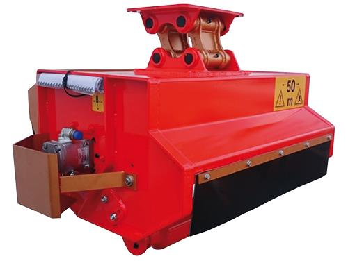 Hydraulic cutting head for excavators up to 13 ton
